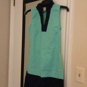 Size XS Dress . Mint green and navy